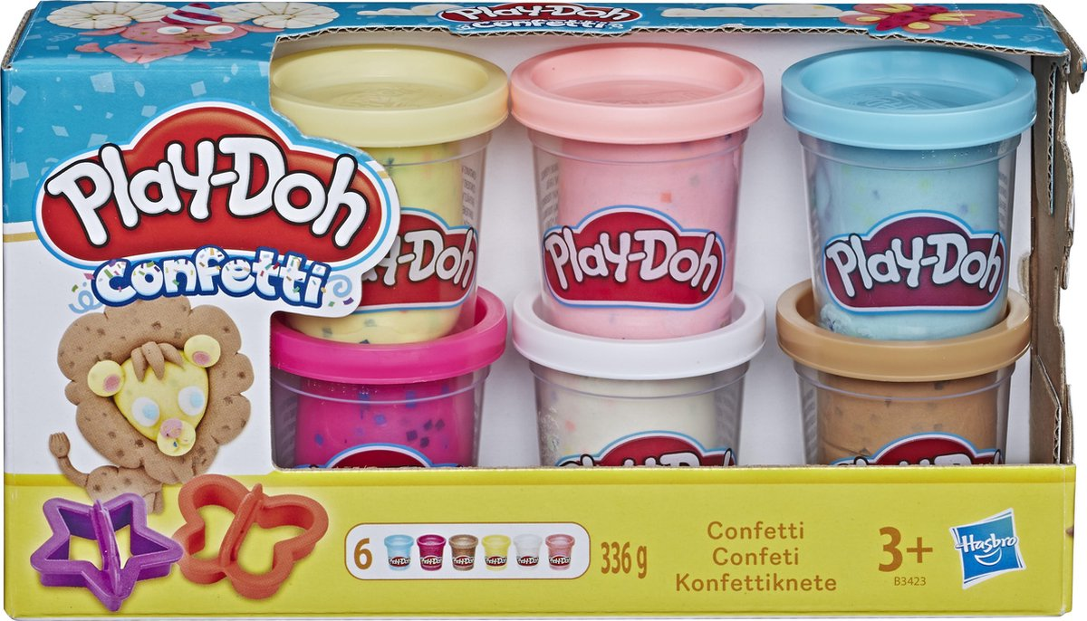 Play-Doh Confetti Klei - 6 Potjes
