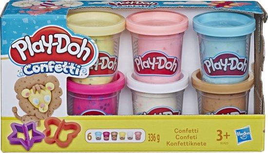 Afbeelding van Play-Doh Confetti Klei - 6 Potjes speelgoed