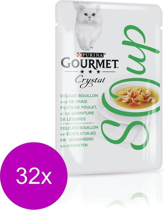 Gourmet Crystal Soup - Kattenvoer Kip & Groenten - 32 x 40 g