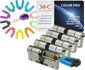 M&C Color PRO set van 5 cilinders 32/32 en 7 sleutels SKG3