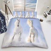Paarden dekbedovertrek - 1 persoons dekbed Paard