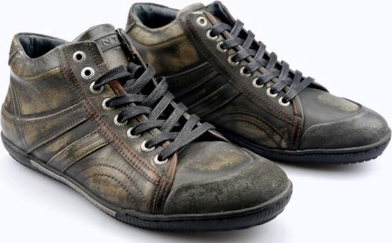 Gant RENTON geschuurd leder half hoge sneaker Heren zwart met effect - Maat 42
