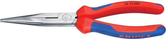 Knipex Kp-2612200 Radiotang Platspitse Tang met Zijsnijder 200 mm
