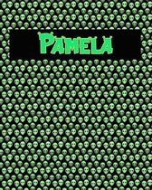120 Page Handwriting Practice Book with Green Alien Cover Pamela