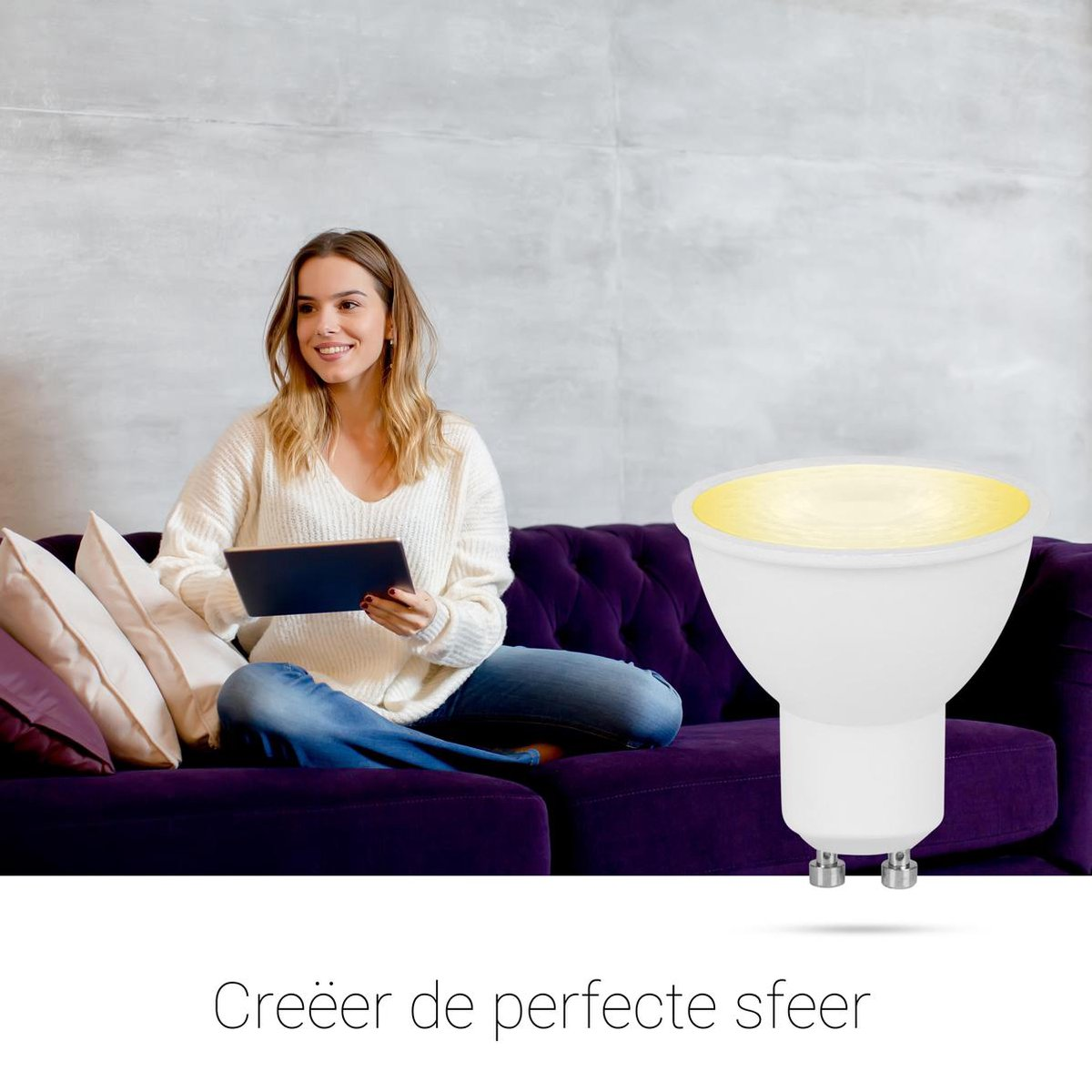 Smartwares 10.051.52 Slimme GU10 Lamp - PRO Series - Regelbaar Wit licht - Uitbreiding