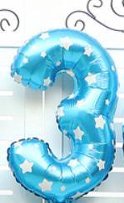 XL Folie Ballon (3) - Helium Ballonnen - Babyshower - Verjaardag - Blauw