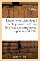 L'experience scientifique a l'ecole primaire