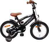 AMIGO BMX Fun - Kinderfiets 14 Inch - Jongens - Matzwart
