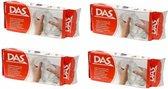 4x DAS boetseer klei wit 500 gram - hobby materiaal - klei