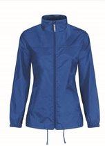 Dames regenkleding - Sirocco windjas/regenjas in het blauw - volwassenen XS (34) kobalt