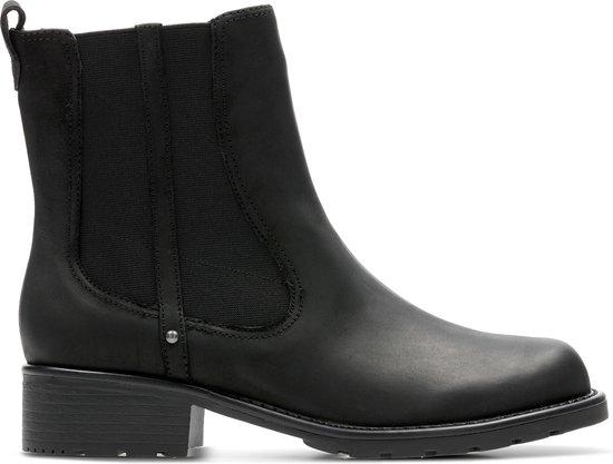 Clarks Orinoco Club Dames Laarzen Black Leather Maat 38