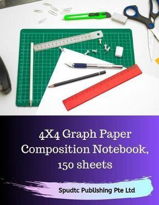 4x4 Graph Paper Composition Notebook, 150 sheets