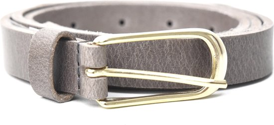 Tannery Leather Kledingriem Damesriem Leer – grijs – 85 cm