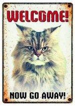Plenty gifts waakbord blik grumpy cat 15x21 cm