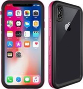 Let op type!! 2m Waterproof Snowproof 2m Shockproof Dustproof PC+Silicone Case for iPhone X / XS (Pink)