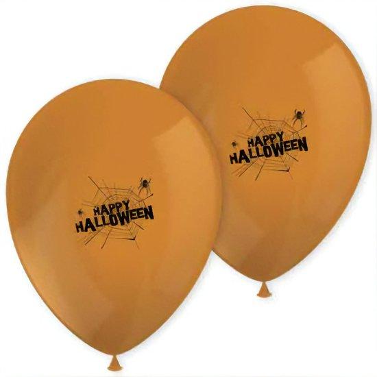 Procos Ballonnen Spooky Halloween 28 Cm Oranje 8 Stuks