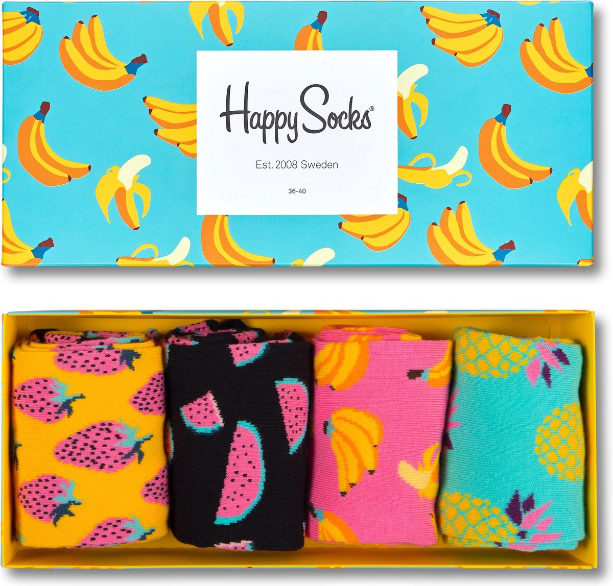 Happy Socks Fruit Giftbox - Maat 41-46