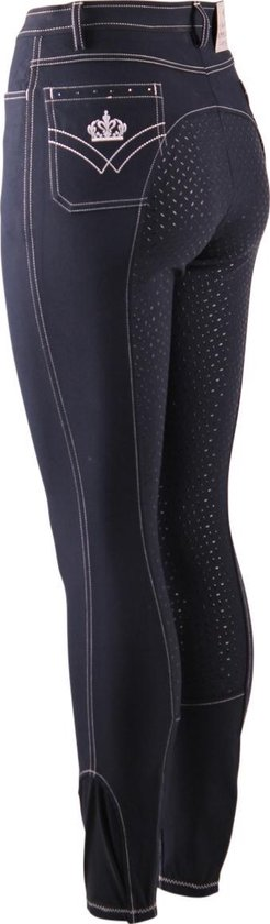 Epplejeck Rijbroek  Sparkle Full Grip Kids - Dark Blue - 128