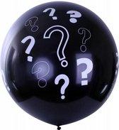 Partyxplosion - Gender reveal ballon - Vraagtekens - 90cm