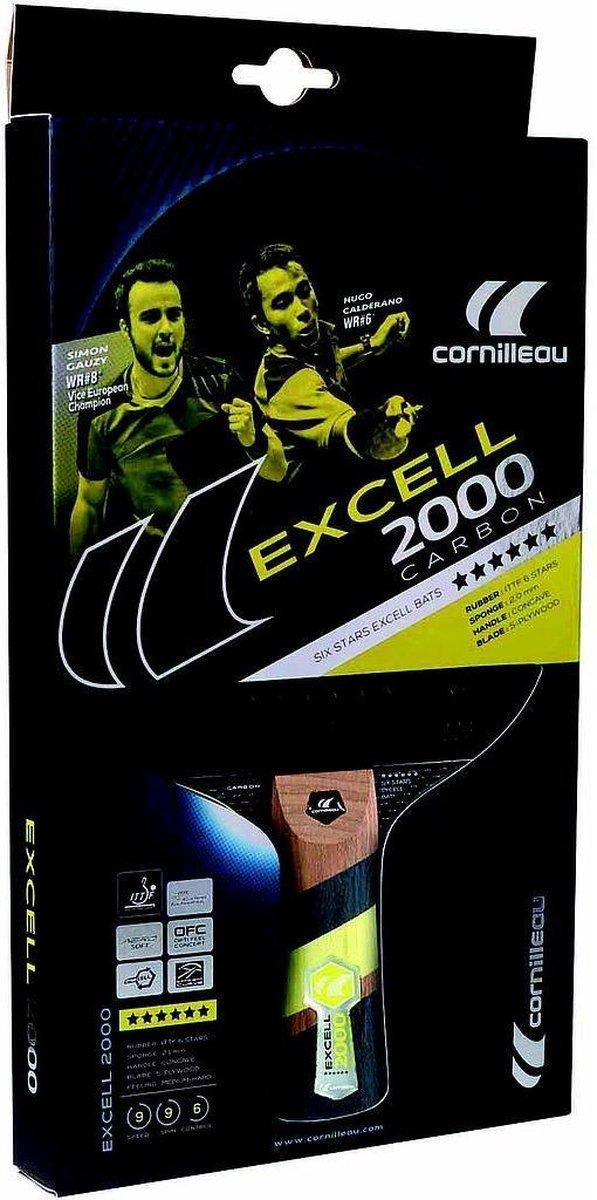 Cornilleau Tafeltennisbat Excell 2000 - Carbon - Cornilleau