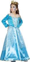 Assepoester Kostuum | Blauwe Ster Van Het Bal Koninklijke Prinses | Meisje | Maat 152 | Carnaval kostuum | Verkleedkleding