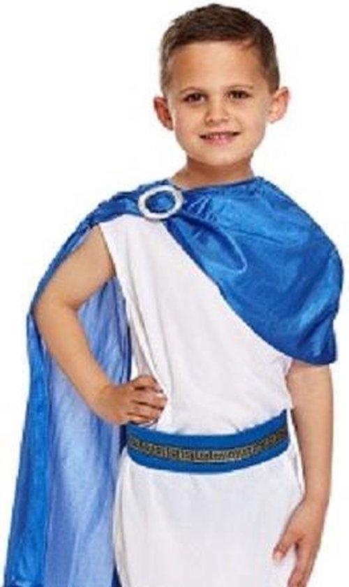 4-Delig Romeinse Caesar God Kostuum - Jongen - Roman God Kostuum - Romeins edelman - Carnavalskleding - Verkleedkleding - 7-9 jaar