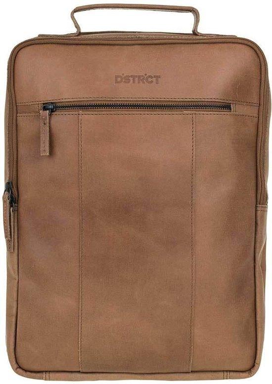 DSTRCT Riverside Laptop Rugzak - 15,6 inch - Cognac