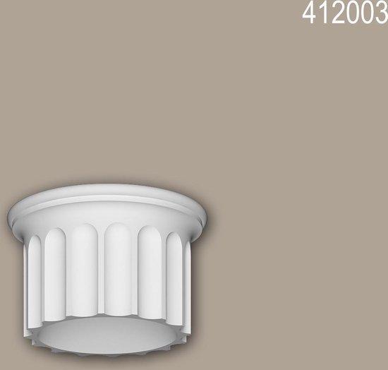 Volle zuilen segment Profhome 412003 Gevellijst Zuil Gevelelement Ionische stijl wit