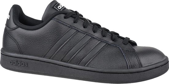 adidas Grand Court EE7890, Mannen, Zwart, Sneakers maat: 40 2/3 EU