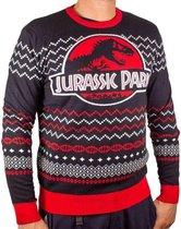 Jurassic Park - Ugly Jurassic Logo Christmas Sweater M