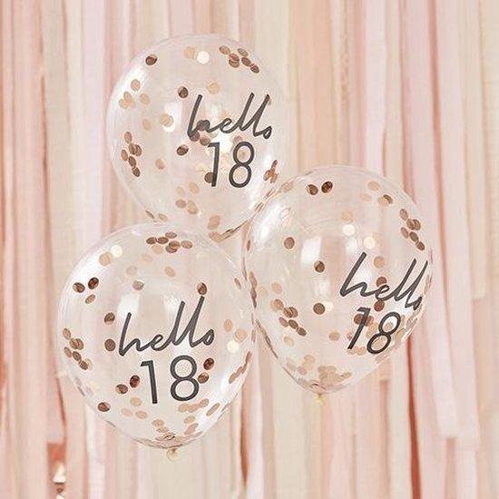 Mix It UP - Confetti Ballonnen HELLO 18 (5 stuks)