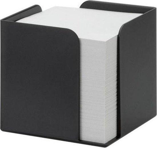 Jalema Re-Solution Memokubus, 100% gerecycled polystyreen, Zwart