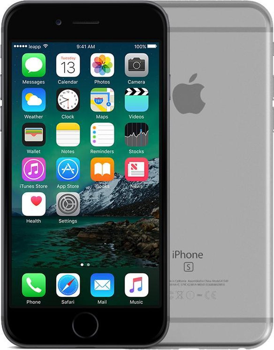 Apple iPhone 6s - Refurbished door Leapp - A grade (Zo goed als nieuw) - 32GB - Spacegrijs