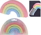Regenboog vorm - stoepkrijt - 2x 4 stuks