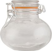 Voorraadpot | Ø 8*8 cm | Transparant | Glas | Rond | Clayre & Eef | 6GL1345