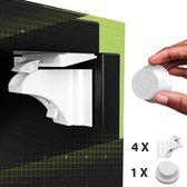 Toddly – 4x Onzichtbare Lade- & Kastslot Beveiliging Set en 1x Magneetslot– voor Baby en Kind