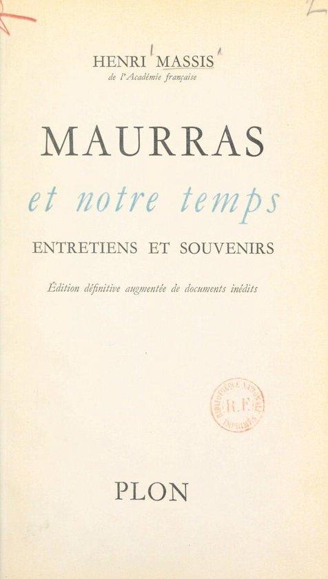 Maurras et notre temps
