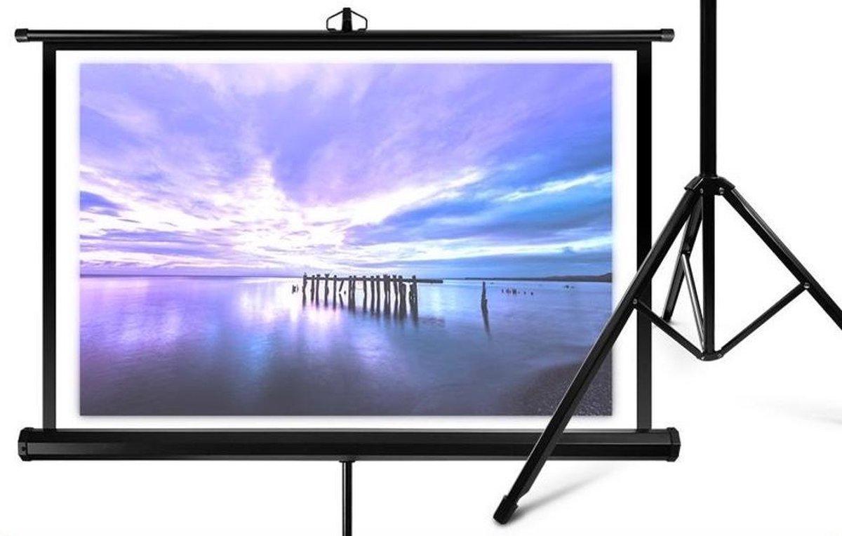 Overmax Screen - Verstelbaar Projectie Scherm 60 - Zwart - Overmax