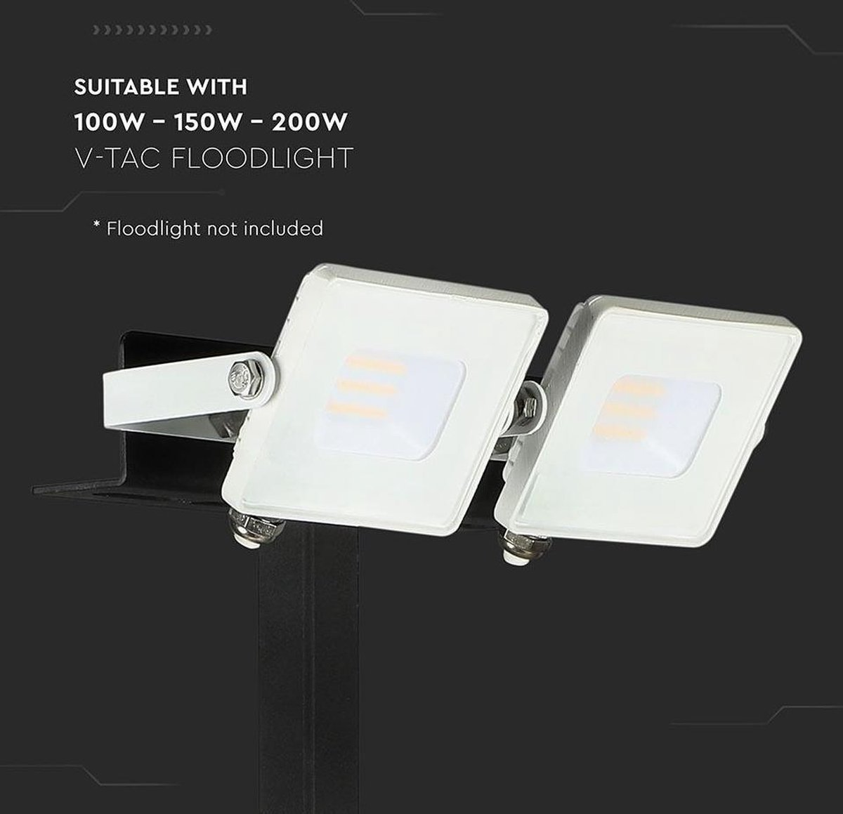 85CM*15CM 20W en 30W V-tac VT-794 Muursteun voor bouwlampen van 10W