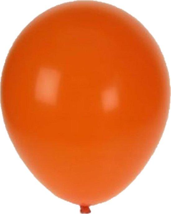 Helium ballonnen Oranje 100 stuks