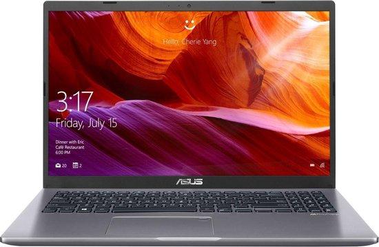 ASUS X509JA-EJ031T Notebook Grijs 39,6 cm (15.6'') 1920 x 1080 Pixels Intel® 10de generatie Core™ i7 8 GB DDR4-SDRAM 512 GB SSD Wi-Fi 5 (802.11ac) Windows 10 Home