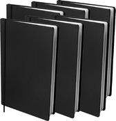 Dresz rekbare boekenkaft A4 - Zwart - 6-pack