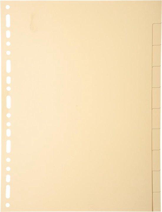 10x Tabbladen karton 155g - 10 tabs - A4, Ivoor