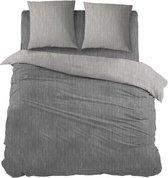 Snoozing Brigitte - Dekbedovertrek - Eenpersoons - 140x200/220 cm + 1 kussensloop 60x70 cm - Antracite/Grey