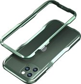 LUXWALLET®  Incisive Sword + Glas - Aluminium Bumper iPhone 11 6.1 inch - A6061 Aluminium Frame Case - Donkergroen