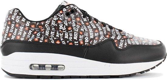 Nike Air Max 1 Premium - Just Do It - Heren Sneakers Sportschoenen schoenen Zwart 875844-009 - Maat EU 40 US 7