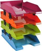 Set van 4 brievenbakken COMBO MIDI, Kleuren assortie