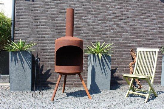 2L Home and Garden Potkachel Tuinhaard - Large - Roest look - Roestbruin
