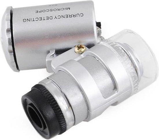 Mini microscoop - Pocket microscoop - Zakmicroscoop - Microscoop - Loep - Loeplens - Uv licht - 60x zoom