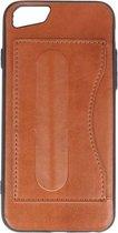 Wicked Narwal | Standing TPU Wallet Case voor iPhone 8 / 7 Bruin